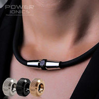 Power Ionics 3000ions Cc Fashion Sports Golf Baseball Titanium Ion Necklace