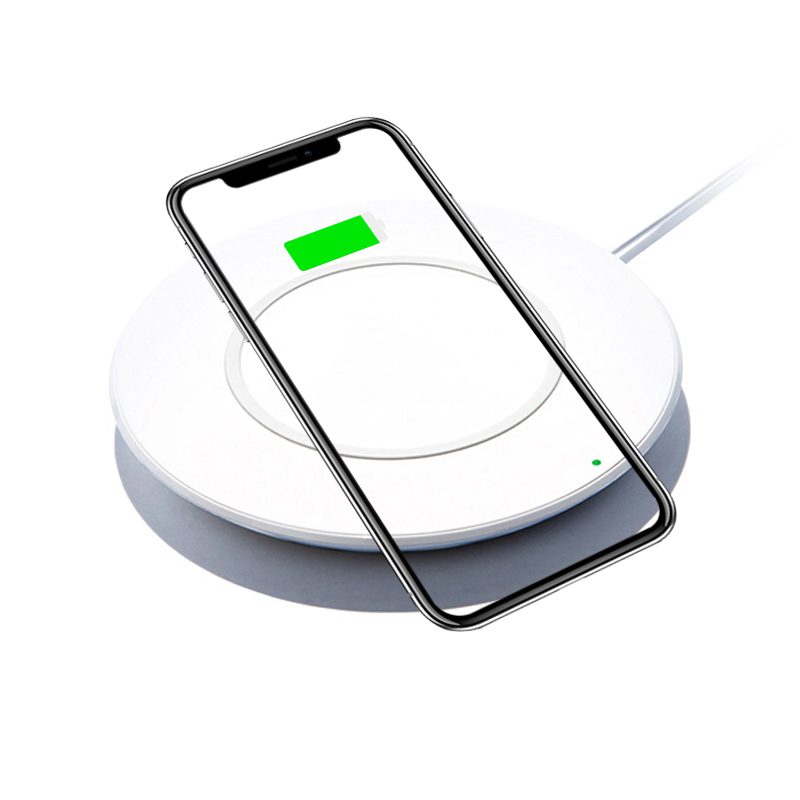 Original Qi Wireless Charging Pad for Apple iPhone X XR XS Max 8 Plus Wireless Charger for Samsung Nokia Moto LG Mobile Phone