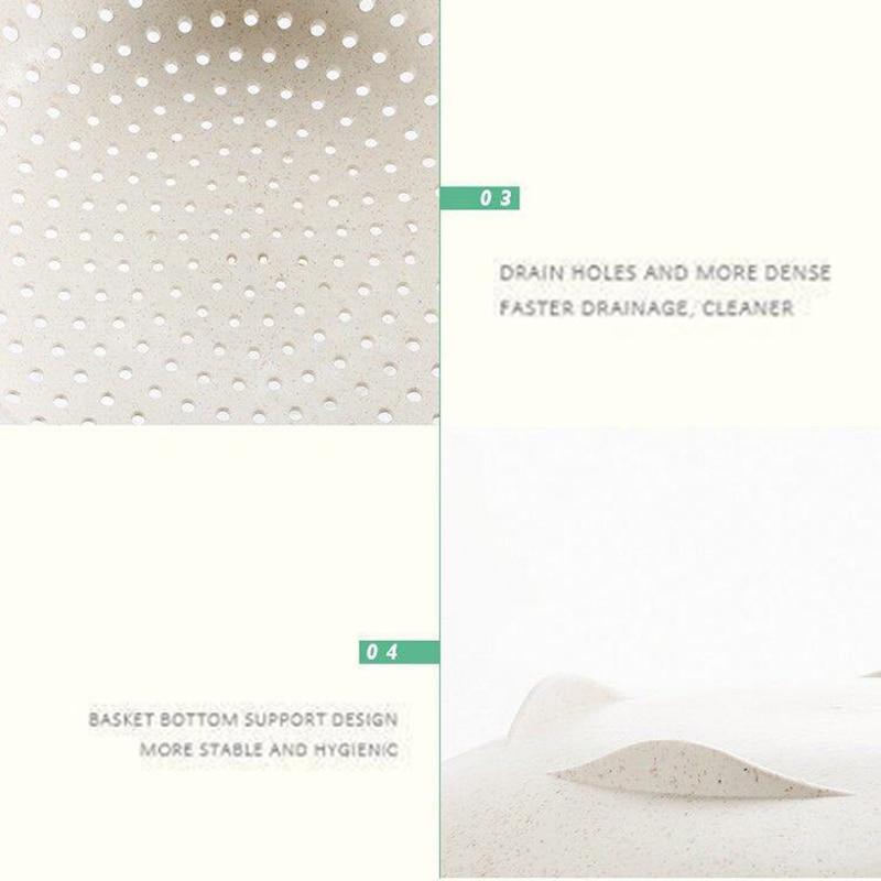 厨房洗篮 -  2PCS-微型 - 双屏 - 水果 - 蔬菜 - 塑料 - 洗手盆 - 漏水 - 排水 - 篮子 - 厨房 - 工具 -  KC1729(12)