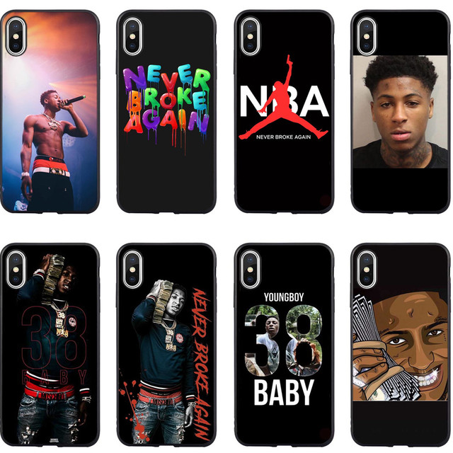 uk availability 809c9 71044 US $0.85 21% OFF|Youngboy Never Broke Again Merch 38 Silicone Back Cover  Phone Cases for iPhone 5 5S SE X 6 6sPlus 7 7Plus 8 8 Plus XS MAX XR-in  Flip ...