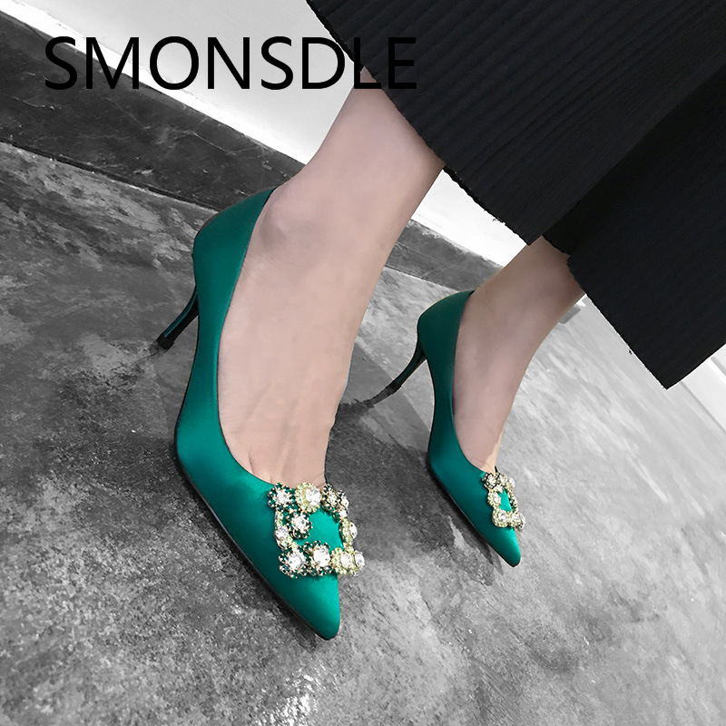 boda real punta pic zapatos seda verano señora slip cristal thin as