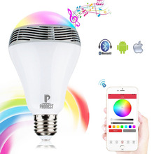 5W E27 led bulb AC220V bluetooth led lamp wireless music bulb speaker disco noverty led lighting music player bulbs
