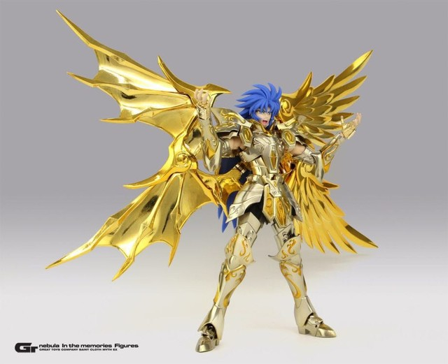 GT EX Gemini Saga Saint Seiya Soul of Gold SOG Metal Armor Myth Cloth Gold Ex Action Figure