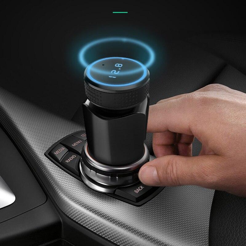 MP3 player do carro do Bluetooth cartão TF música lossless aux saída de áudio receptor transmissor FM carregador de carro Bluetooth Car Kit 3.4A