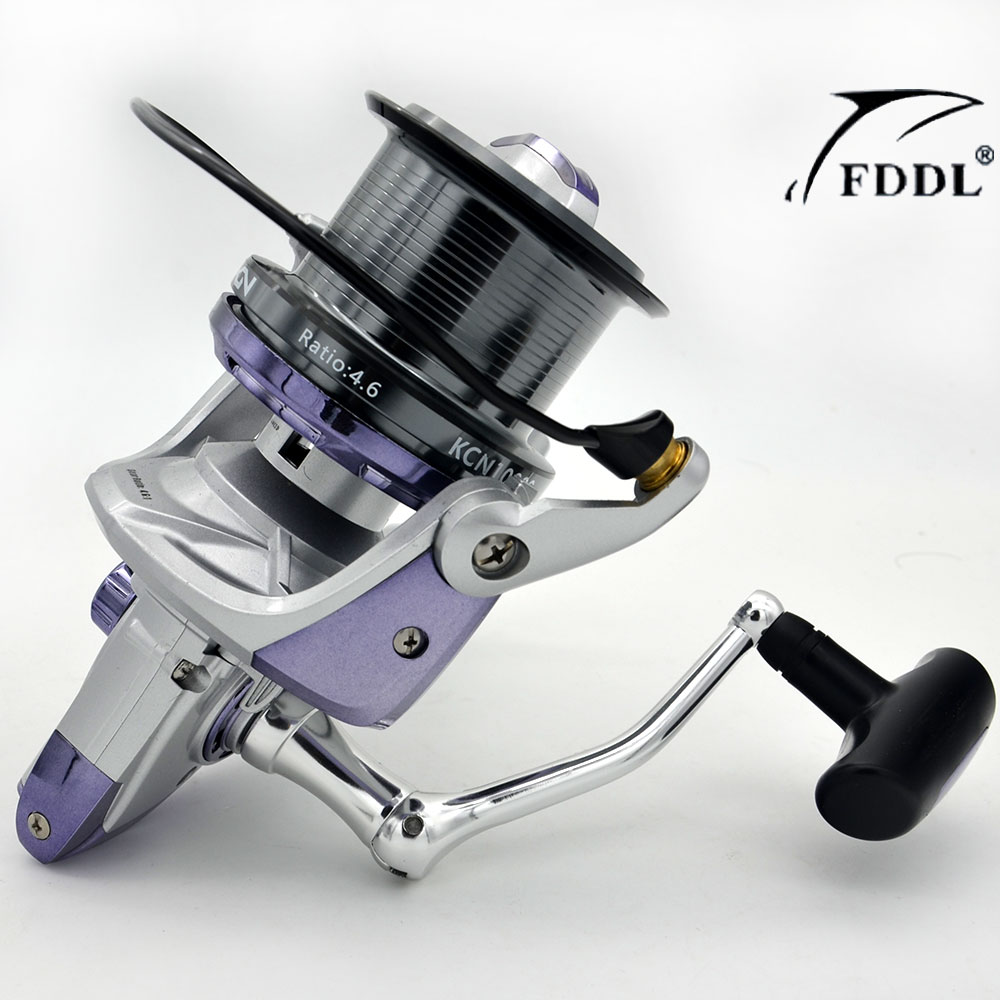 ФОТО 2016 New Big Spool 10000 series Long casting Spinning fishing reel 4.6:1 Fly Fishing Reel For carp feeder fishing Free Shipping