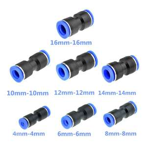 5pcs Air Pneumatic OD Hose Tube One Touch Push Into Straight Gas Fittings Plastic Quick Connectors Fitting