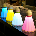 Alta calidad creativa Lámpara de mesa de carga USB Luz de La Noche de Ahorro de Energía Led Badminton luz bebé dormitorio de la lámpara de luz nocturna