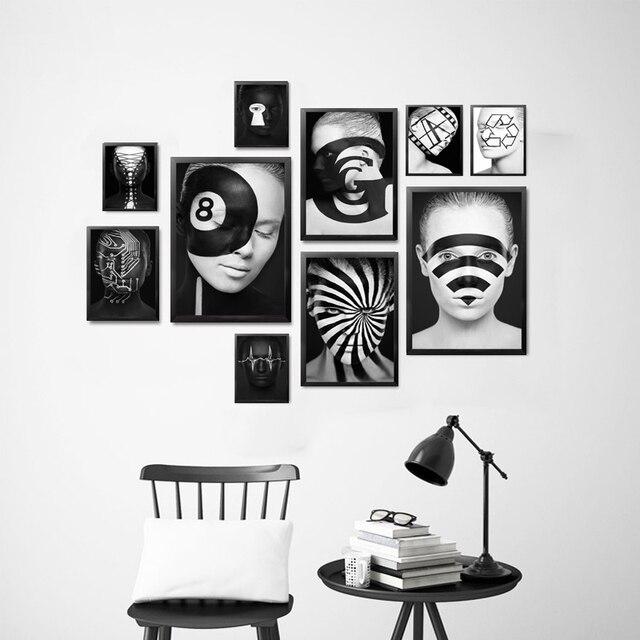 Kunstdrucke Modern brennen gehirn geometrie linie kunstdrucke wifi zeichen kreative