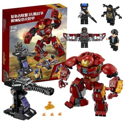 Iron Man Hulkbuster Sermoido 76105 Marvel Ironman Avengers Super Heroes Model Building Blocks Boys Birthday Toys For Children in Blocks from Toys Hobbies