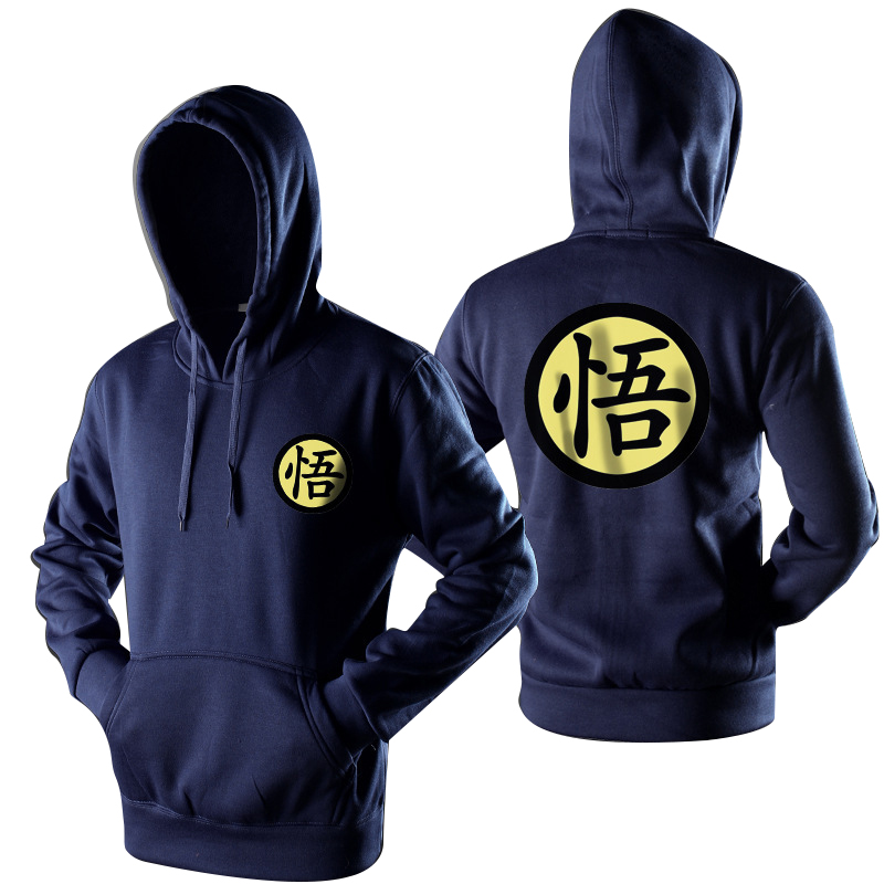 Men's Casual Print Sweatshirt Dragon Ball Sweatshirt Hooded Turtleneck Sweater Slim Fashion Large Size