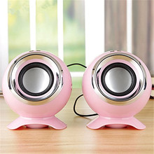 New Arrival Portable Mini Stereo Sound Speaker For Computer PC 3W*2 Bass HIFI USB Power Supply Wired 3.5 mm Jack Speaker 3 Color