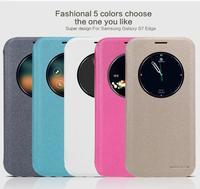 Original NILLKIN Brand Sparkle Case For Samsung Galaxy S7 Edge G9350 Luxury Fashion PU Leather Cover