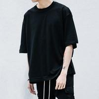 Man Streetwear T Shirts Urban Clothing Plain White Grey Black Oversized Shirts Blank T Shirt Of