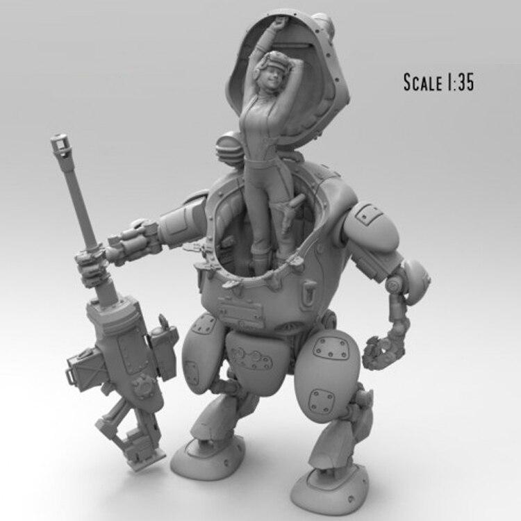 1//35 Resin Figure Model Kit German Soldier Wolfenstein Steampunk Rocket Launcher