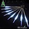 9W AC110-220V Input LED Meteor Rain Light 50cm Length Multi-Color RGBY/White/Blue 240pcs LED Bulb with US/EU Plug, 8 Pcs/Set