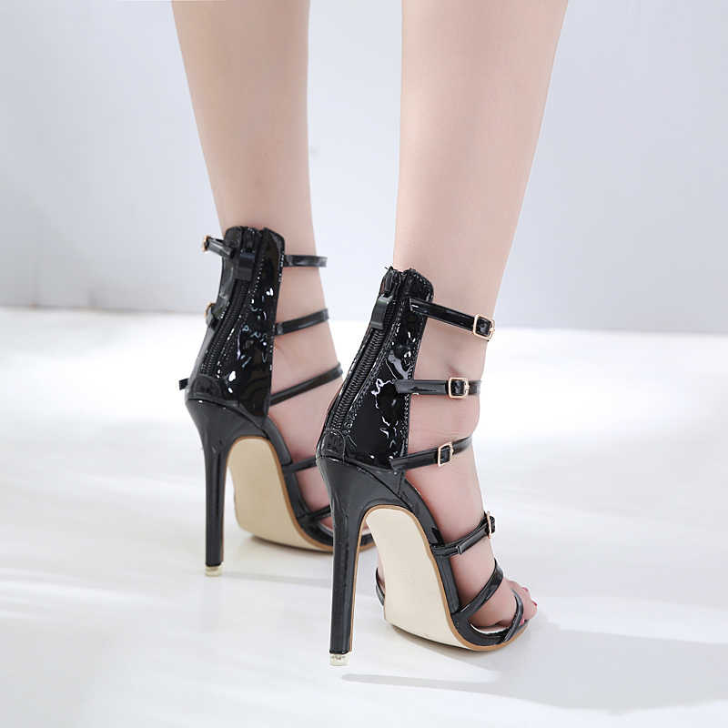 Sexy gold hochzeit frau schuhe high heel sandalen 2019 schnalle fisch mund high heels 11 CM damen schuhe pumpen frauen schuhe sandalia