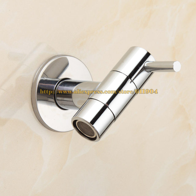 Online Shop Brass Chrome Bathroom Faucet Kitchen Wall Mount Sink ...