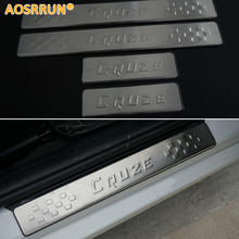 AOSRRUN Car accessories stainless steel scuff plate door sill For Chevrolet Chevy Cruze sedan hatchback 2009-2015