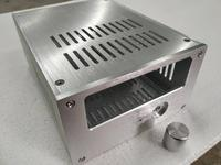 BRZHIFI silver aluminum case for tube preamplifier