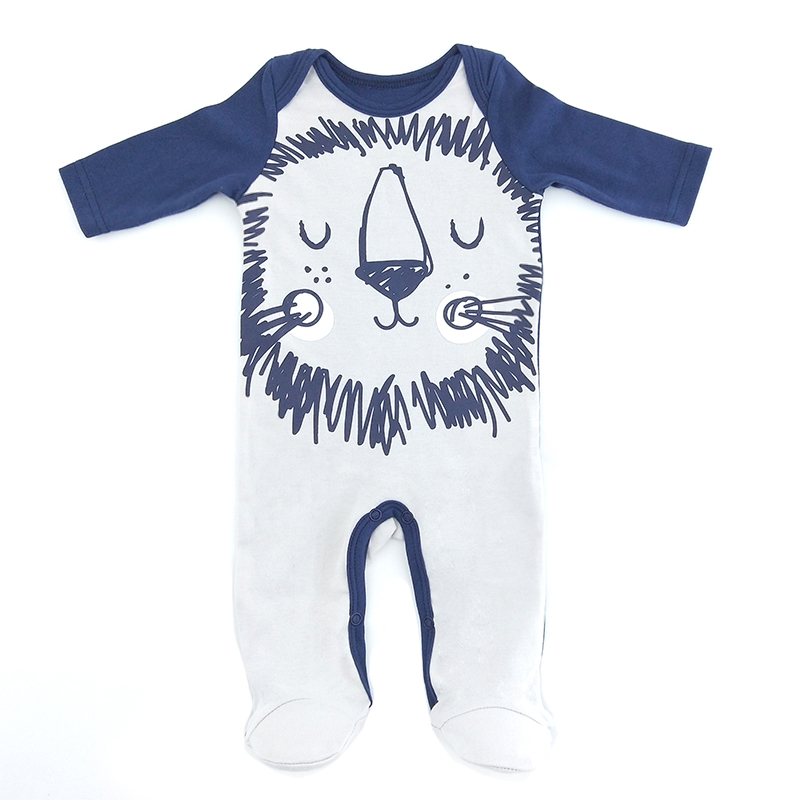 Newborn Clothes For Baby Boy Rompers Long Sleeve Lion Print Cotton Jumpsuit Baby Romper Lovely Autumn Toddler Baby Romper 2018 newborn baby rompers baby clothing 100% cotton infant jumpsuit ropa bebe long sleeve girl boys rompers costumes baby romper