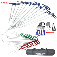 PDR KING Tools To Remove Dents Hooks Push Rod Repair Kit Dents Removal Car Repair Tools Auto Tool Set Door Dent Hail Removal