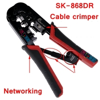 ReadStar SUNKIT SK 868DR dual functional Cable crimper Crimping tool 8p 6p RJ45 RJ11 Plug Networking telephone cable making