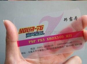 Image 3 - Lote de 1000 unidades de tinta blanca personalizada, Impresión de tarjetas de visita de plástico PVC transparente esmerilado a medida