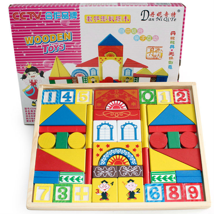 Free delivery, digital shape building blocks, children's educational wooden toys,scale models,educational,baby toys 2-4 months