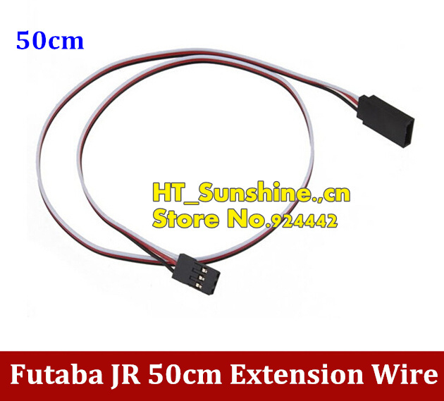 Universal Servo Extension Lead Wire Cable for Futaba JR RC Servo 50cm High Quality communication cable for servo drive mr cpcatcbl3m cable mr j2s a