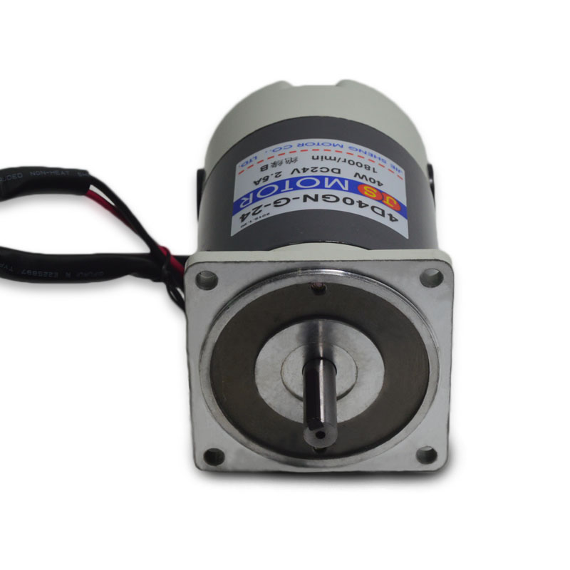 4D40GN-G-24 DC motor 1800 rpm high speed high torque motor micro- speed motor 12 / V24V / 40W Power Tool Accessories 5d200gn g 24 dc motor reversing speed motor speed 1800 rpm and high torque micro motor 24v 200w power tool accessories