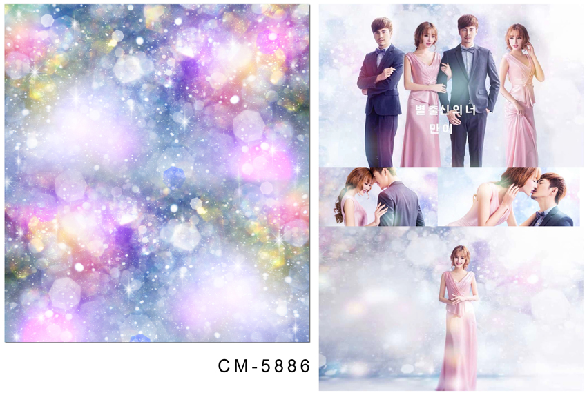 ФОТО Wedding Photography Backdrops Spark Colorful  Spots 200*300 CM Photography Background for Studio Custom Name with Date