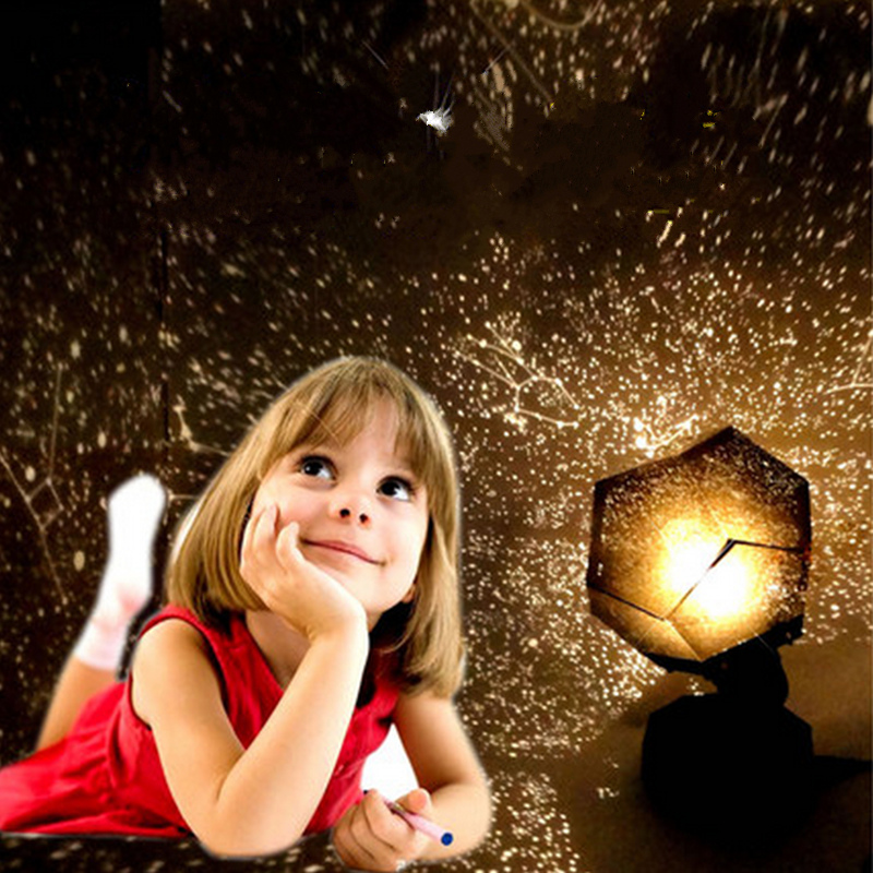 DIY puzzle star master night light children's room sleep romantic four seasons star projector + EU plug led lamp battery