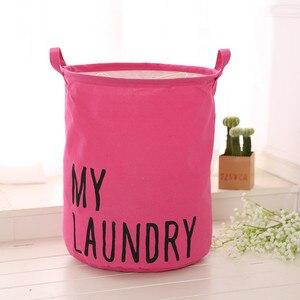 Image 2 - Kolorowe organizator pościel bawełniana wodoodporna torba do przechowywania do domu tkaniny kosz na bieliznę pole gruzu kosz na bieliznę 2019 gorąca sprzedaż