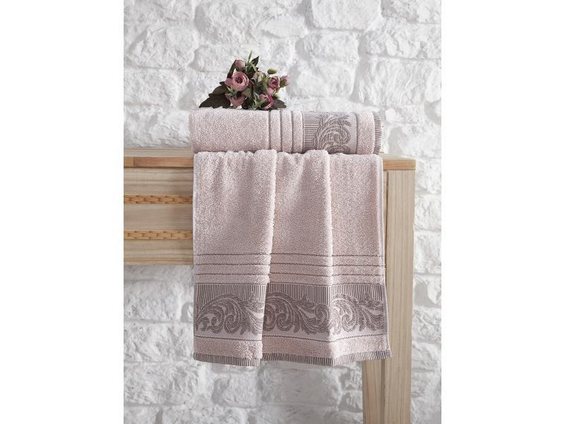 Towel bath KARNA, MERVAN, 70*140 cm, apricot towel bath santalino with рождением доченьки 70 140 cm