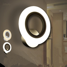 Factory  LED Wall Lamps Acrylic aisle sitting room bedroom circular loops 6w-10w wall lamp of the head of a bed 110v-240v
