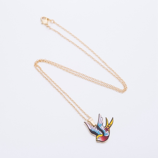 Online shop shuangshuo bohemian enamel cartoon swallow pendant shuangshuo bohemian enamel cartoon swallow pendant necklaces for women cute animal bird choker necklace jewelry chokers oxl025 mozeypictures Gallery