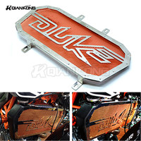 New Motorcycle Accessaries Motorbike Radiator Grill Guard Cover Protector Radiator Protection Orange For KTM DUKE200 DUKE390