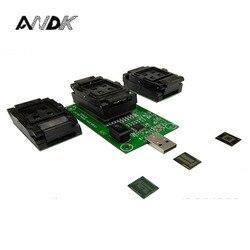 EMMC153 169 EMCP162 186 EMCP221 układ z serii tester gniazda programista czytnik USB port do odzyskiwania danych elektroniczny zestaw diy narzędzie do telefonu|tool tool|tool diytool kit phone -