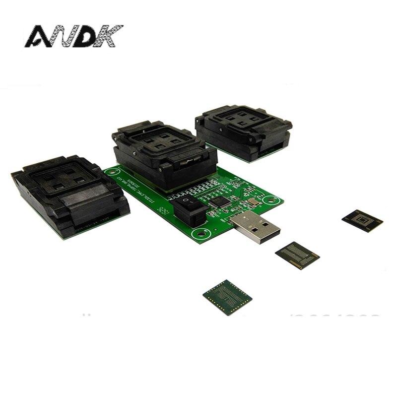 EMMC153 169 EMCP162 186 EMCP221 серия чип сокет тестер программист считыватель USB порт восстановление данных Электронный Набор diy телефон инструмент