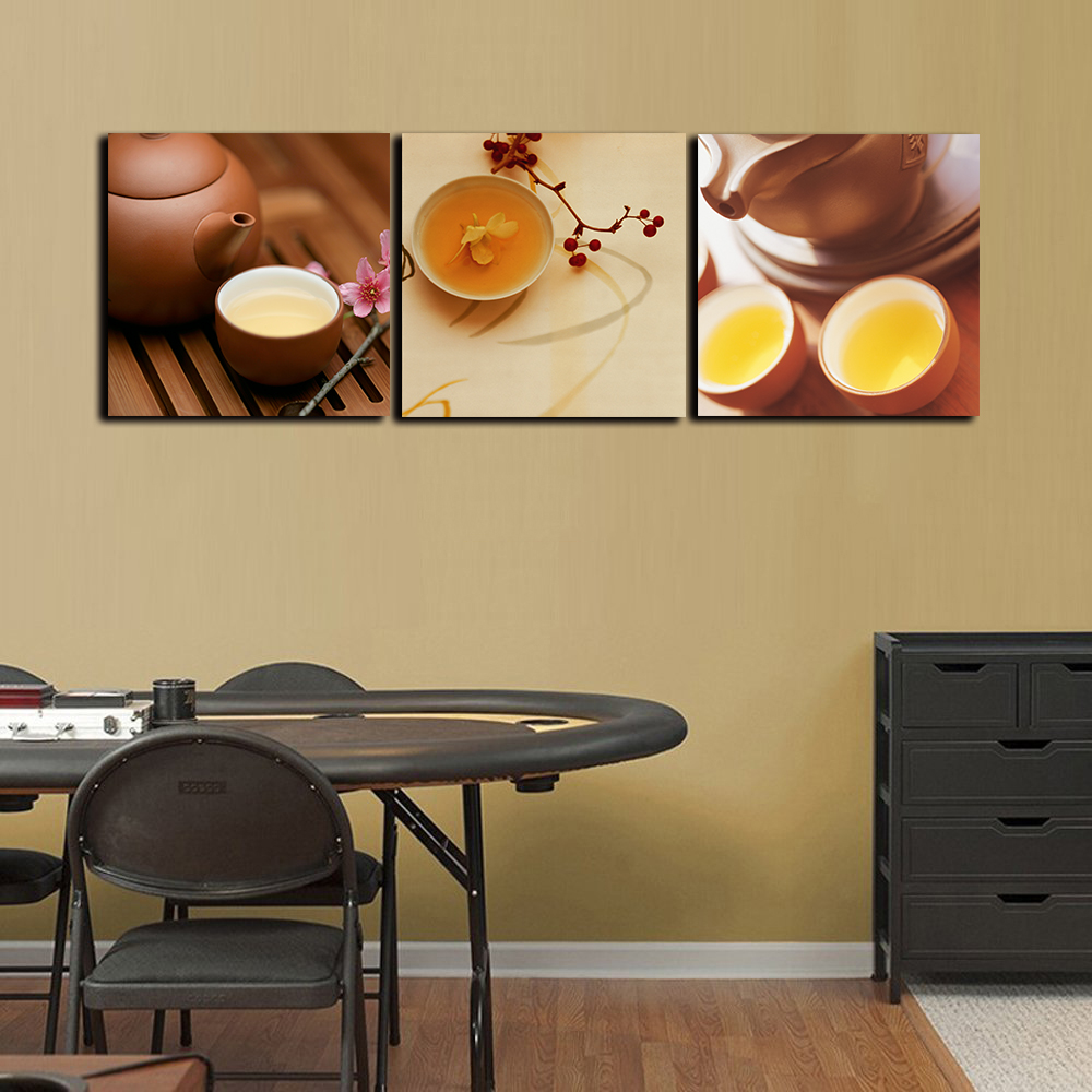 Modern Canvas Art 3 piece Cups Red wine glass Posters HD Prints Home ...