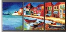 NEW 100% hand painted oil painting Home decoration high quality landscape knife painting  Match framework DY-031