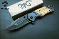 Browning X49 Tactical Folding Knife Steel Blade Wood Handle Titanium Pocket Survival Knives Huntting Knife Fishing