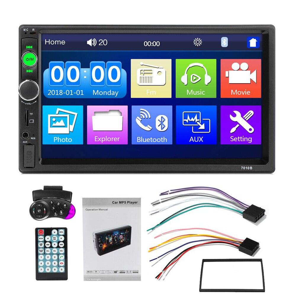 Hikity auto radio 2 din autoradio 7 pouces Auto Radio lecteur multimédia avec Android miroir lien Support volant à distance - 6