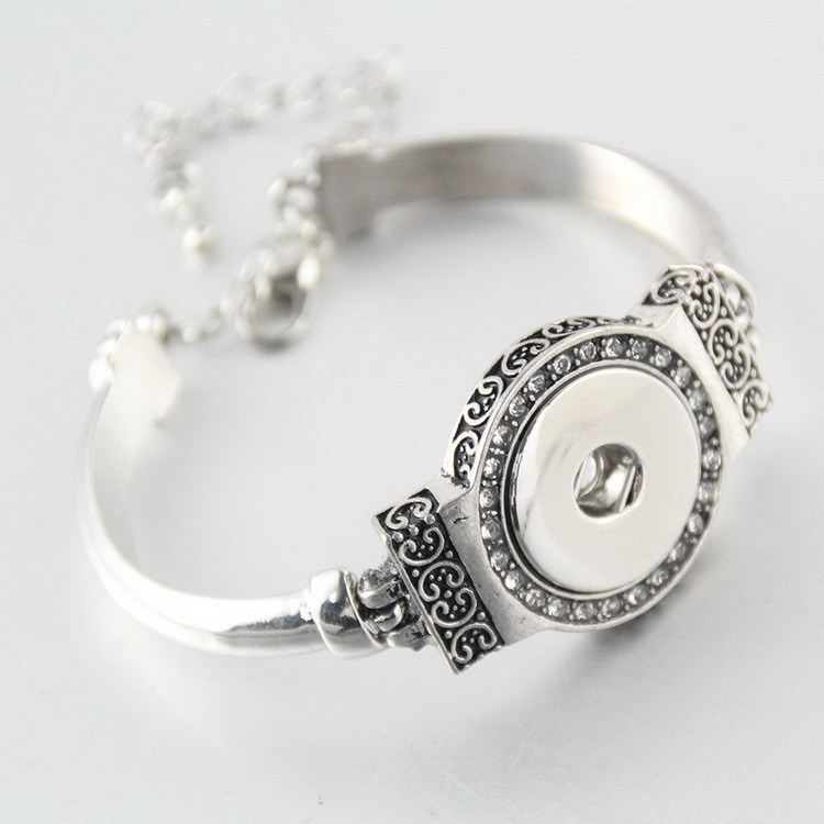 1pcs DIY Bangles 18mm watch Snap Bracelet Metal Button new Jewelry Bracelet For Wome