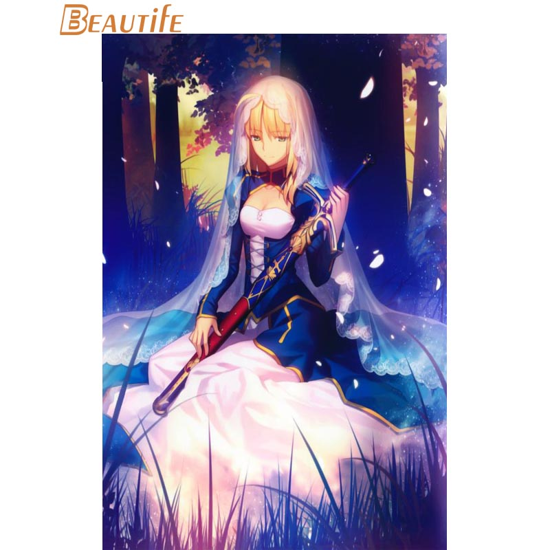 Hot Sale Custom  Fate Stay Night  Poster Home Decoration Fashion Silk Fabric Wall Poster Custom  Poster