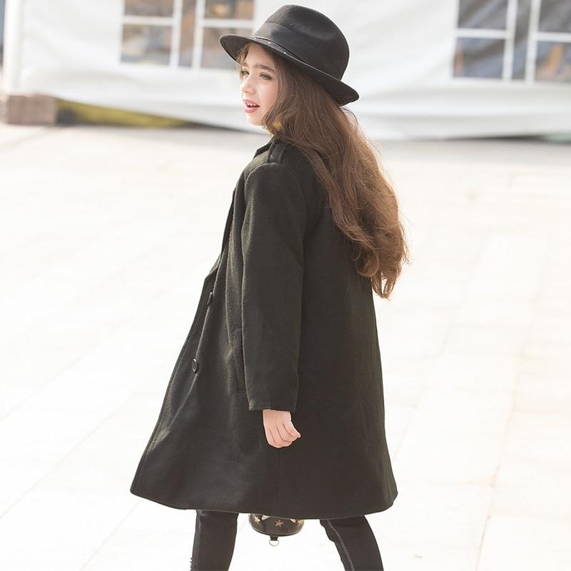 ФОТО Big Kids Winter Jacket Children Black Cotton Coat Girl Thick Outfits Black Cool Windbreaker Kids Wool Coat For Age 12 14 15 16