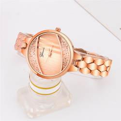 2019 новые женские модные часы из нержавеющей стали аналоговые кварцевые круглые наручные часы с кристаллами браслет дамские часы