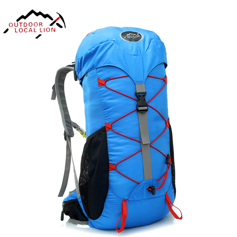 LOCAL LION Men Backpacks Outdoor Mountaineering Bag Sports Bag For Women Backpack Nylon Waterproof Hiking Rucksacks Camping 35L