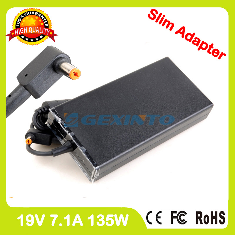 Slim 19V 7.1A 135W laptop ac power adapter charger for Acer Aspire V15 Nitro VN7-592 VN7-592G V5-591 V5-591G VX5-591G PA-1131-16 slim 19v 7 1a 135w laptop ac power adapter charger for acer aspire v15 nitro vn7 592 vn7 592g v5 591 v5 591g vx5 591g pa 1131 16