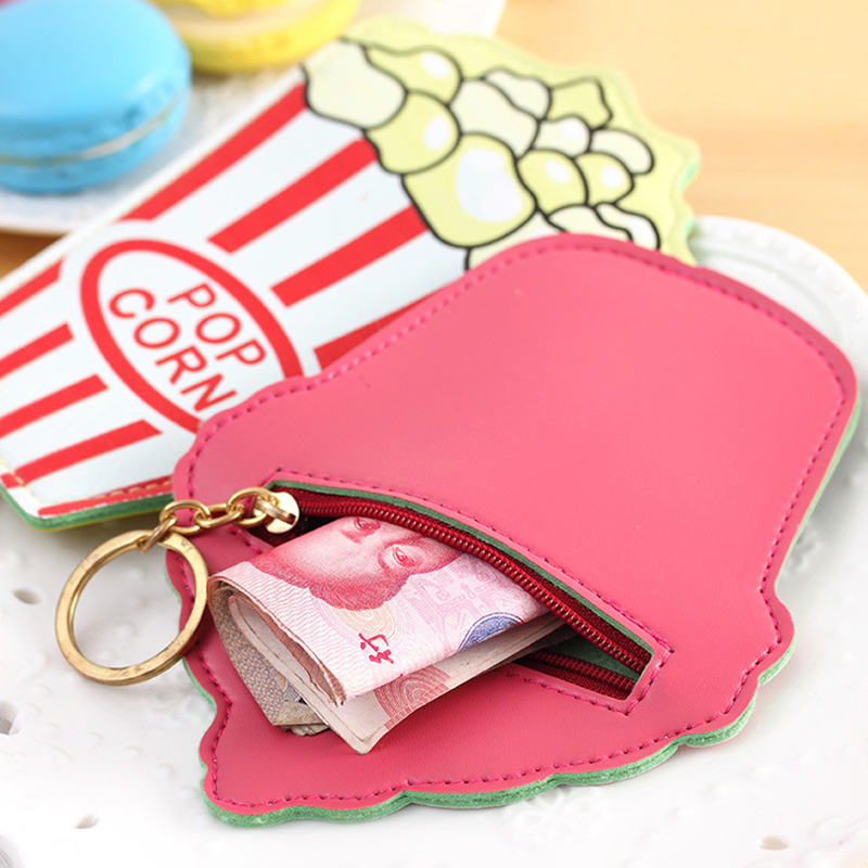 DUDINI Korean Cartoon Style Coin Bag Creative Cute Student Purse PULeather Material Zipper Personalized Convenience Wallet
